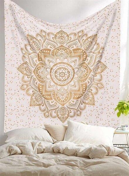 lotus mandala tapestry