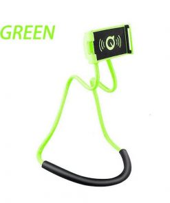 green lazy neck phone holder