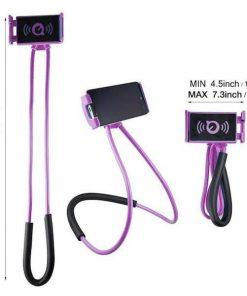 lazy neck phone holder purple