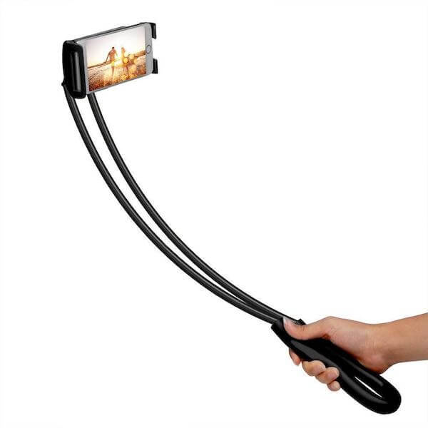 bike lazy neck phone tablet holder