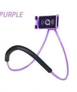 purple lazy neck phone holder
