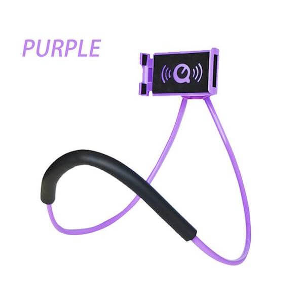 purple lazy neck phone holder
