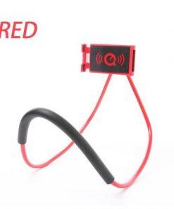 red lazy neck phone holder