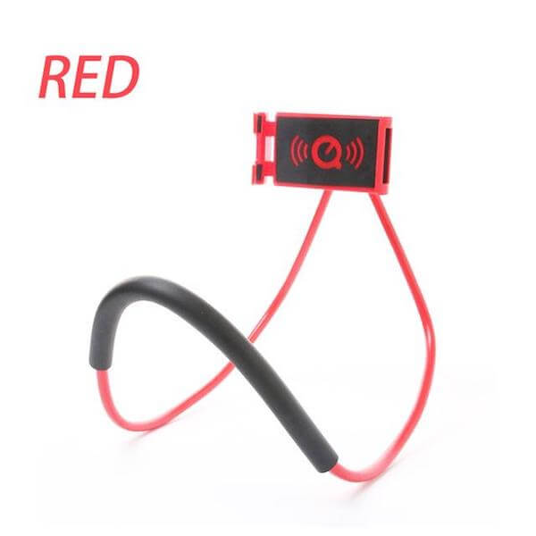 red lazy neck phone holder