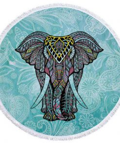 round elephant beach towel
