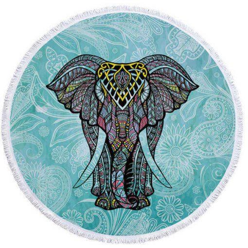 round elephant beach towel