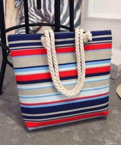 canvas summer beach bag