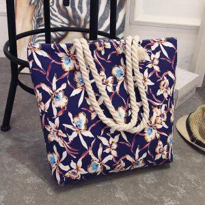 canvas summer beach shoulder bag
