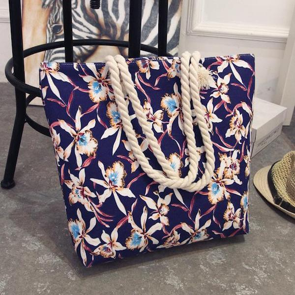 canvas summer beach shoulder bag