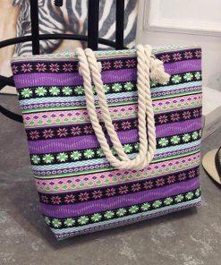 canvas summer beach tote bag