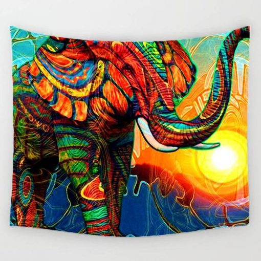 sunshine elephant tapestry