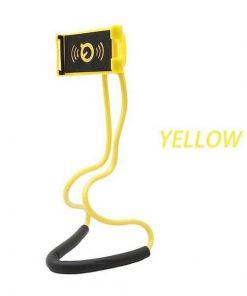 yellow lazy neck phone holder