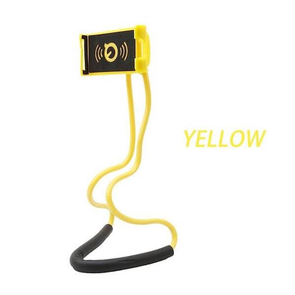 yellow lazy neck phone holder