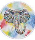 yellow-round-elephant-beach-towel
