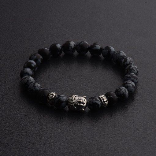 Black Buddha Head Bracelet