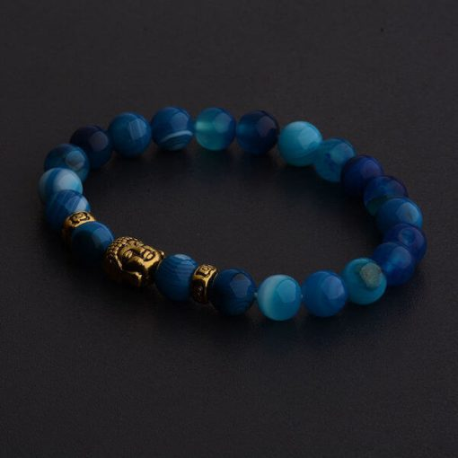 Blue Buddha Head Bracelet