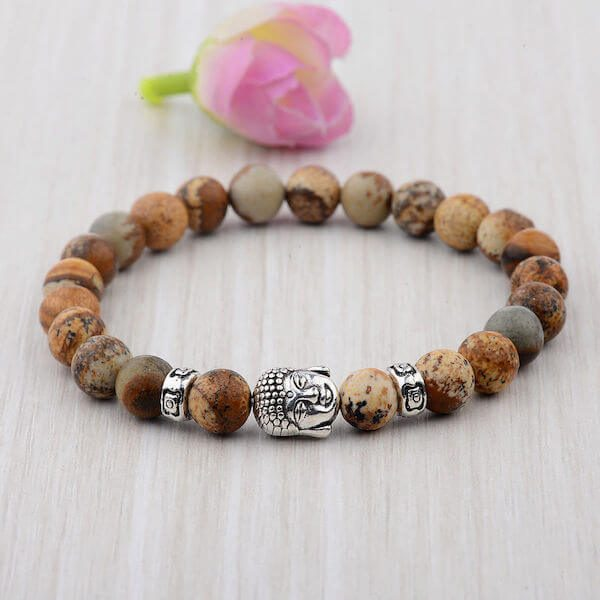 Silver Buddha Head Bracelet
