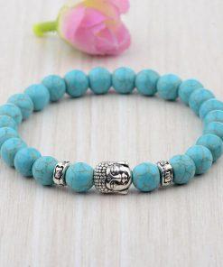 Turquoise Buddha Head Bracelet