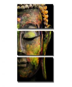 abstract buddha 3 pieces canvas painting