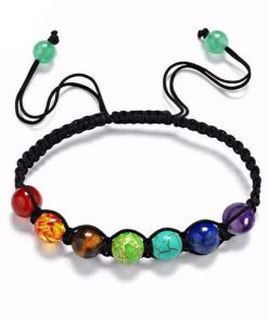 adjustable cord 7 chakra beads bracelet