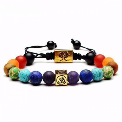 7 chakra tree of life charm bracelet