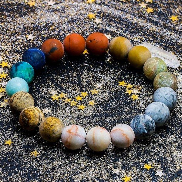 Solar System Beaded Bracelet