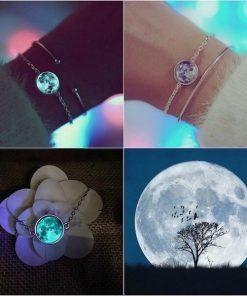 premium white moon bracelet