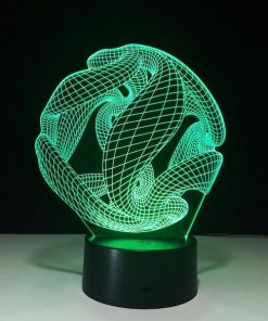 Abstract Sphere- 3D Optical Illusion LED Lamp Hologram