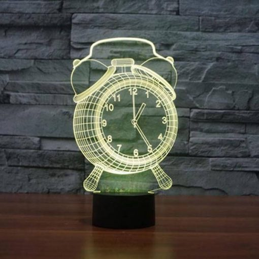 Alarm Clock - 3D Optical Illusion LED Lamp Hologram