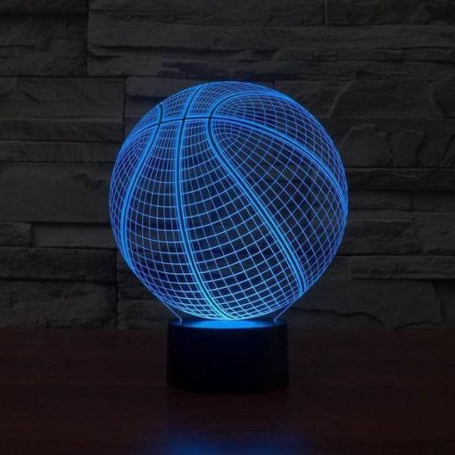 Basketball NBA - 3D Optical Illusion LED Lamp Hologram