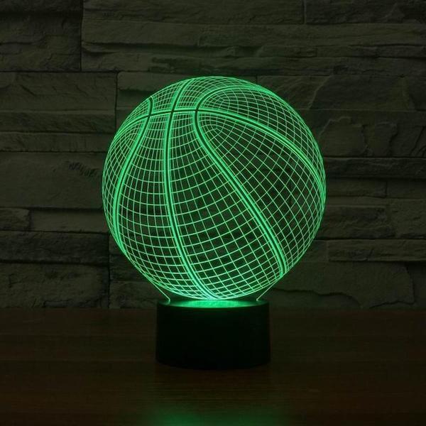 Basketball NBA - 3D Optical Illusion LED Lamp Hologram