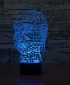 Buddha - 3D Optical Illusion LED Lamp Hologram