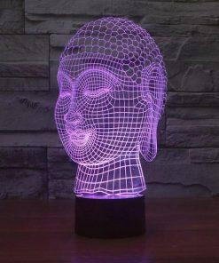 Buddha - 3D Optical Illusion LED Lamp Hologram
