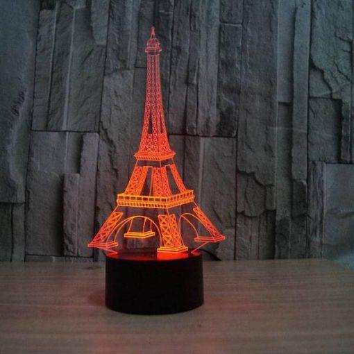 Eiffel Tower - 3D Optical Illusion LED Lamp Hologram