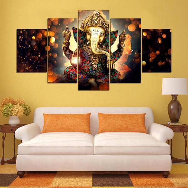 Ganesha Canvas Wall Art Painting