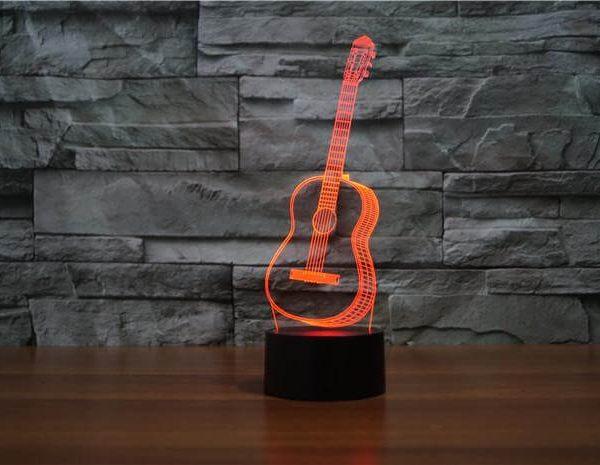 Guitar - 3D Optical Illusion LED Lamp Hologram