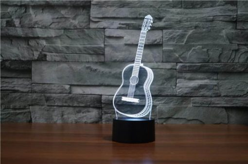 Guitar - 3D Optical Illusion LED Lamp Hologram