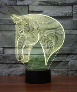 Horse - 3D Optical Illusion LED Lamp Hologram