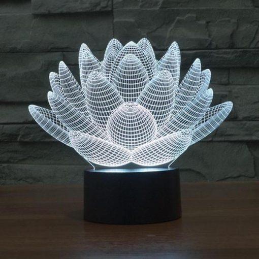Lotus - 3D Optical Illusion LED Lamp Hologram