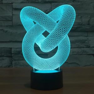 Love Knot - 3D Optical Illusion LED Lamp Hologram