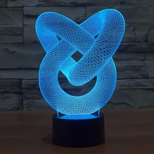 Love Knot - 3D Optical Illusion LED Lamp Hologram