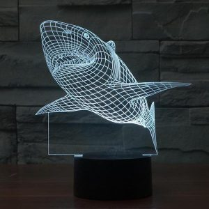 Shark - 3D Optical Illusion LED Lamp Hologram