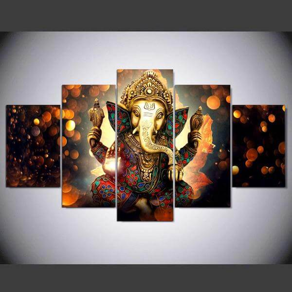 GANESHA CANVAS WALL ART
