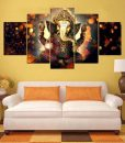 sitting posture ganesha canvas painting for living room