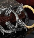 stainless-steel-twisted-cable-dragon-open-bangle-bracelets