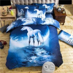 3D GALAXY UNICORN BEDDING SET