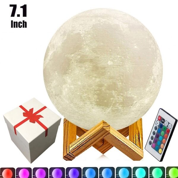UPSTONE 7.1-INCH FULL 3D MOON LAMP