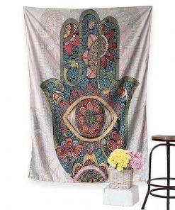 Hamsa Hand Tapestry Wall Hanging