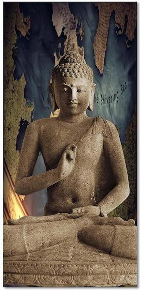Lotus Position Buddha Meditation Canvas Painting
