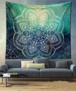 Mandala Green Ascension Tapestry